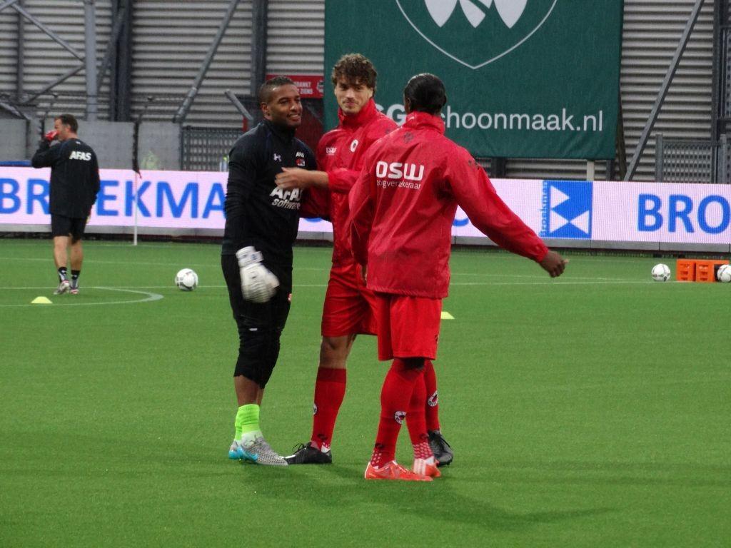 Doelman Gino Coutinho keerde al snel weer terug op Woudestein. Ditmaal op de reservebank bij AZ.