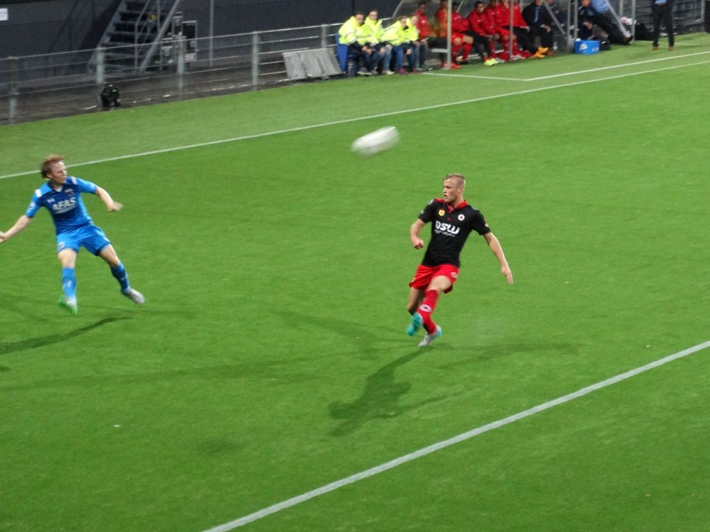 Guus Hupperts zorgde in de eerste helft voor de nodige dreiging.