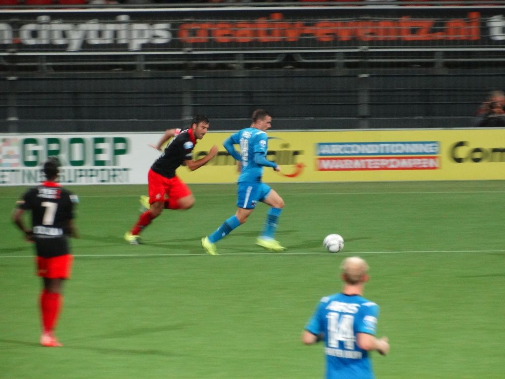 Sander Fischer in de achtervolging.