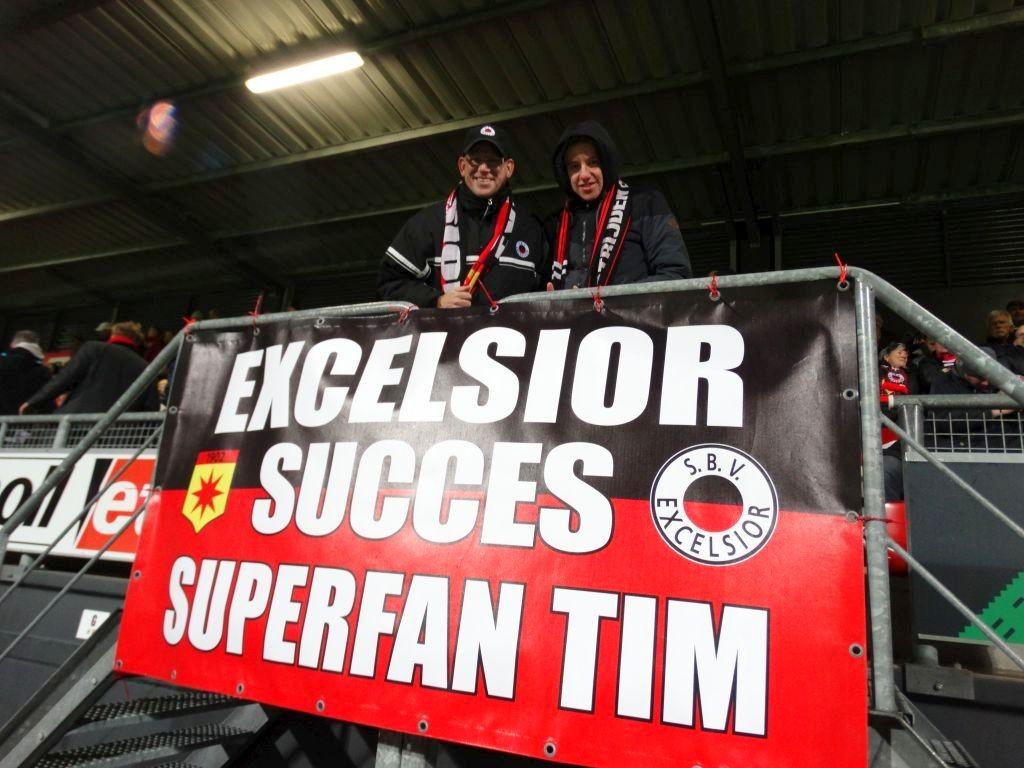 Ook deze wedstrijd konden de spelers rekenen op de aanmoedigingen van deze trouwe supporters!